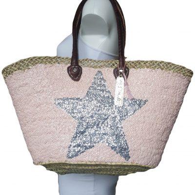 ibiza tas nude met zilveren ster