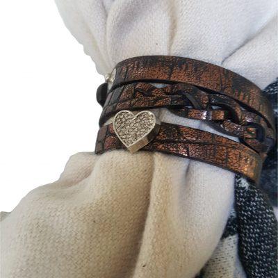 sjaalbandje bruin bedel hart