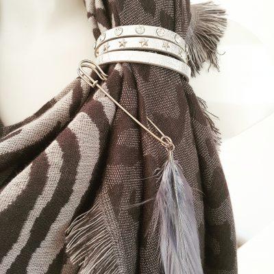 sjaalbandjes zilver met steentjes en sterren