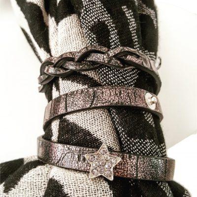sjaalbandje zwart met bedel ster