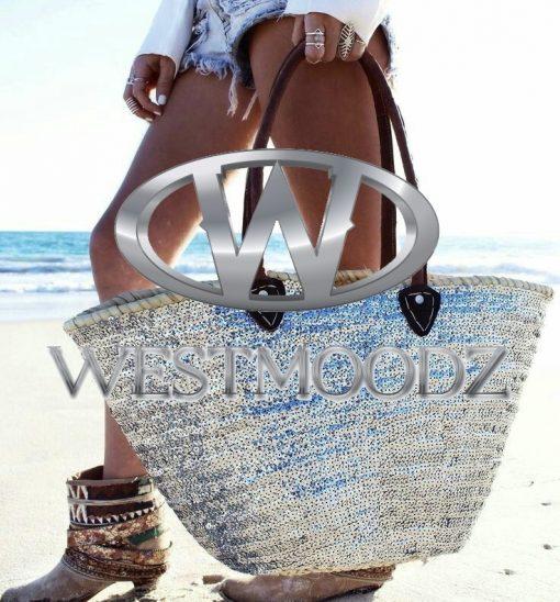 westmoodz ibiza tas met zilveren pailletten