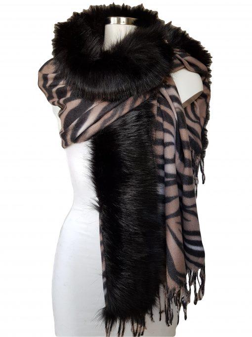 bontsjaal zebra beige